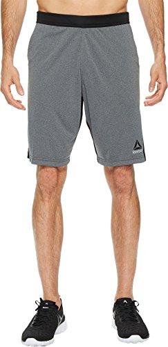 Reebok  Men's Speedwick Knit Shorts Dark Grey Heather Medium 9.5