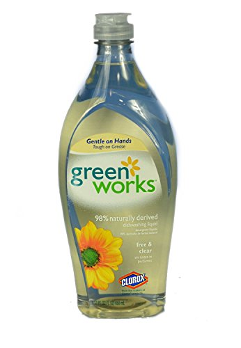 Green Works 30172 Natural Dishwashing Liquid, 22 fl oz Bottl