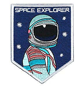 NASA Astronaunt Space Explorer Badge Iron on, Sew on Embroidered Patch. from Jenifer shop