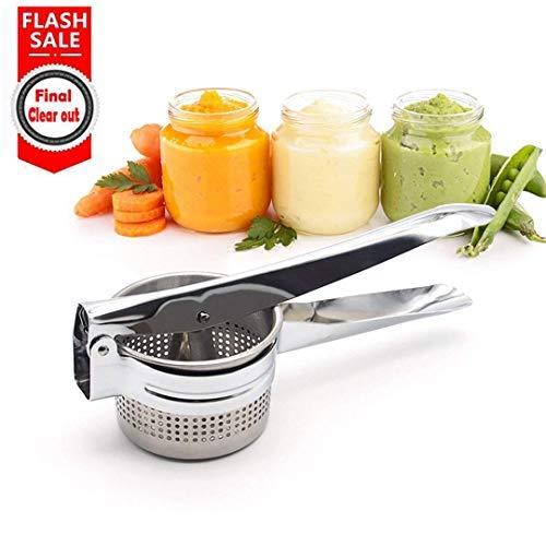 Kuke Potato Ricer/Potato Masher/Fruit Press,Stainless Steel Fruit and Vegetables Ricer,Baby Food Strainer, Fruit Masher