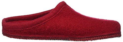 Haflinger Unisex-Erwachsene Walktoffel Alaska Pantoffeln Rot (Ziegelrot)