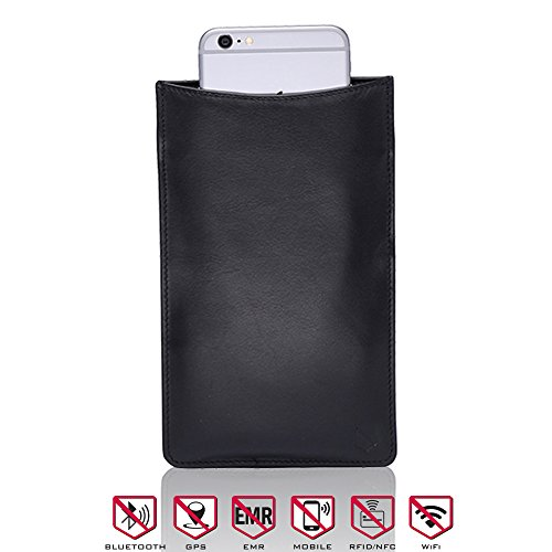 Silent Pocket Medium Faraday Bag Cage Cell Phone Sleeve Pouch - Blocks All Wireless Signals