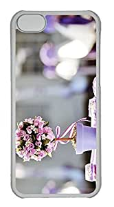 Customized iphone 5C PC Transparent Case - Flower Ball Cover