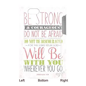 Qxhu Bible Verse Hard Plastic Cover Case for Iphone4,4S 3D case