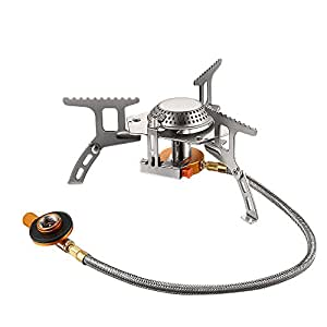 Terra Hiker 3500W Camping Gas Stove, Backpack Stove, with Convenient Piezo Ignition, Durable & Portable Burner with Carrying Case