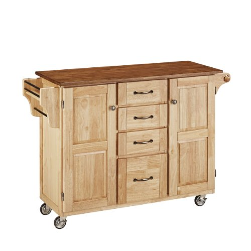 Home Styles 9100-1016G Create-a-Cart, Natural Finish with Oak Top