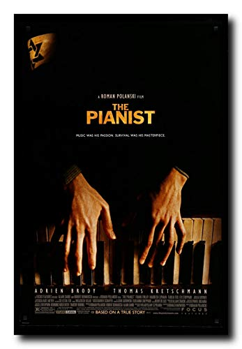 Mile High Media The Pianist Movie Poster 24x36 Inch Wall Art Portrait Print - Adrian Brody