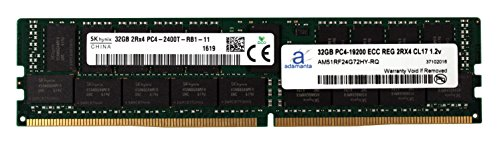 Adamanta 32GB (1x32GB) Server Memory Upgrade Compatible for HP Proliant ML110 Gen 9 DDR4 2400MHZ PC4-19200 ECC Registered Chip 2Rx4 CL17 1.2v DRAM RAM
