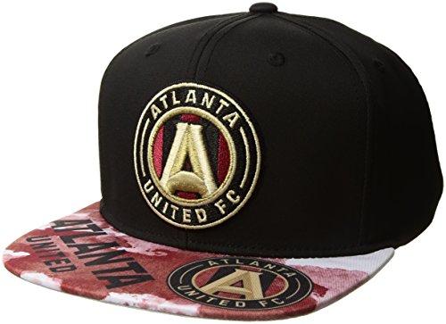 fan products of MLS Atlanta United FC Adult Men Sublimated Flat Brim Snapback Hat, One Size, Black