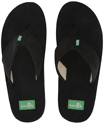 - Sanuk Men's Furreal Classic Cord Flip-Flop Black 12 M US