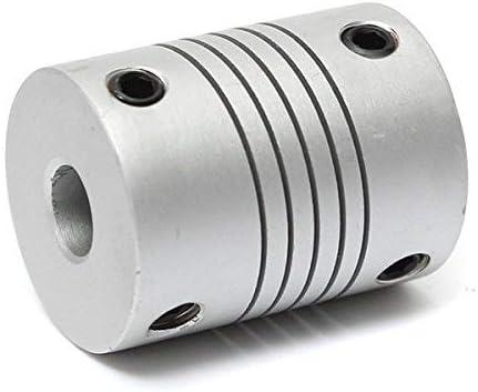 Conector de acoplamiento de eje de aluminio flexible de 6 mm x 6 mm AD19 mm x L25 mm CNC de acoplamiento de motor paso a paso