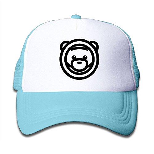 Ozuna Bear Head Fashion Trucker Hat Baseball Mesh Cap for Kids Boys and (Brofist Halloween)