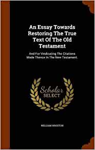william whiston essay on the old testament