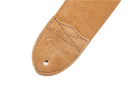 Fender 2 1/2-Inch F Suede Electric Guitar Strap - Tan