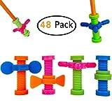 B-KIDS Pencil Fidget Toy Spinner Bulk (48 Pack)