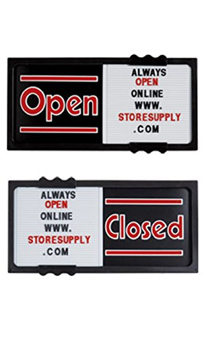 Black Horizontal Sliding Open/Closed Sign Board 20