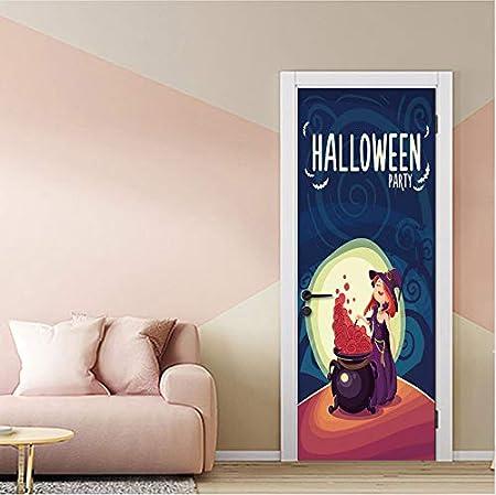 wlflyh Luna de Dibujos Animados Bruja de Halloween Habitación de ...