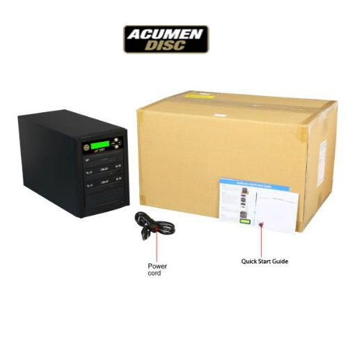 Acumen Disc 1 to 2 Target Discs DVD CD Duplicator Machine with Asus Writers Burners Drives DC02SATASAS by Acumen Disc (Image #2)'