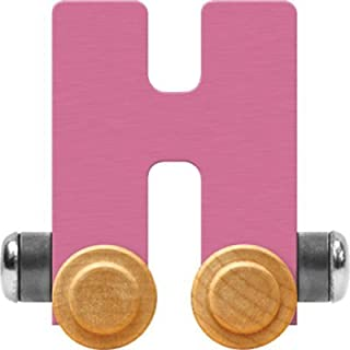 product image for Maple Landmark NameTrain Pastel Letter Car H - Made in USA (Pink)