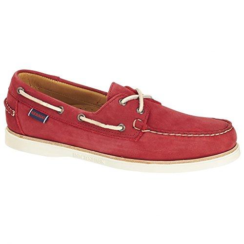 Sebago Shoe Dockside Boat Nubuck Men's Crest Red fxFqrn0fg