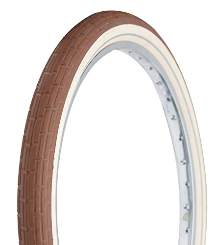 Deli Tire 26 x 2.35 Folding Bead, Beach Cruiser Bike Tire, Brown/Cream Sidewalls, (Brown Tire)