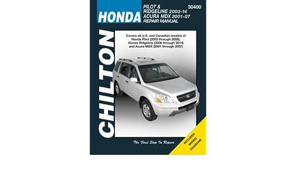 honda pilot ridgeline acura mdx chilton automotive 2001 14 rh amazon com 2001 acura mdx repair manual free download 2001 acura mdx repair manual pdf