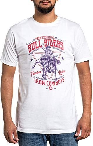 Affliction PBR Professional Bull Riders Show Time Short Sleeve Casual Graphic Fashion T-shirt For Men 3XL
