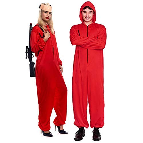 Disfraz La Casa de Papel Atracador Mono Rojo Unisex Halloween Carnaval Cosplay