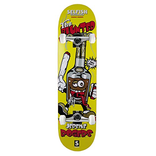 (Selfish Skateboard Assembly The Blunted Cognac Jereme Rodgers Yellow 8.0