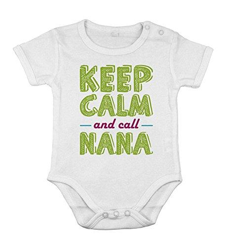 Baby Cotton Unisex Newborn Bodysuit Short one-Piece Keep Calm and Call Grandma