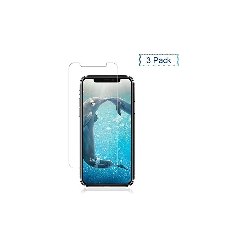 [3-Pack] iPhone Xs/X Glass Screen Protec