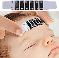10 Stück Baby Stirn Thermometer Körpertemperatur Messung Aufkleber Set