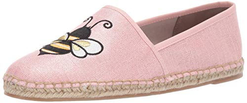 - Circus by Sam Edelman Women's Leni-6 Moccasin Heirloom Rose Metallic Linen 5.5 M US