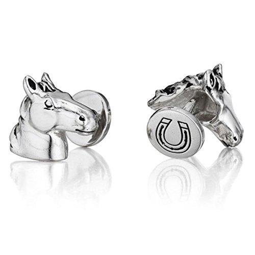 - Robin Rotenier Sterling Silver Horse Head Cufflinks