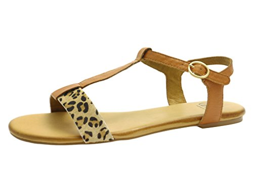 Caprice 99 28106 24 391 - Sandalias de vestir de Piel para mujer Beige CAMEL/LEO Marrón - CAMEL/LEO