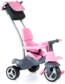 Molto- Urban TrikeSoft Control Triciclo para Niños con 5 Formas de Ensamblar, Color rosa (17201)