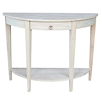 Amazoncom Half Moon Unfinished Modern Console Table Kitchen Dining