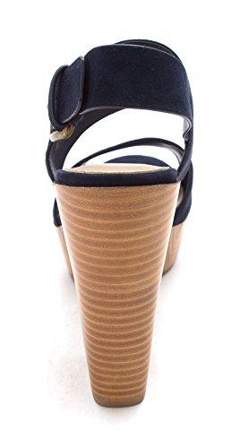 Aldo Womens Maximoa Robe Plate-forme Sandale Marine Multi
