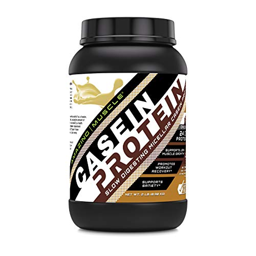 Amazing Muscle Casein Protein Dutch Chocolate 2 Lb - Promotes Lean Muscle Gain - May Benefit The Immune System - Supports Swift Muscle Recovery
