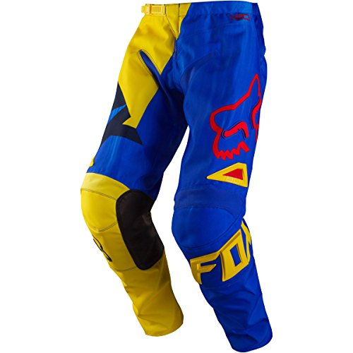 Fox Racing 180 Vandal Youth Boys MX Motorcycle Pants - Yellow/Blue / Size 22