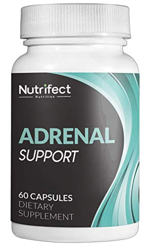Nutrifect Nutrition Adrenal Support Supplements Keep You Sharp, Combats Stress, Anxiety, and Fatigue, Includes Vitamins B6, B12, Ashwagandha, Rhodiola Rosea, 60 Capsules