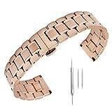 14mm 16mm 17mm 18mm 19mm 21mm 22mm 23mm 24mm Stainless Steel Watch Band Men Wrist Premium Strap Rose Gold