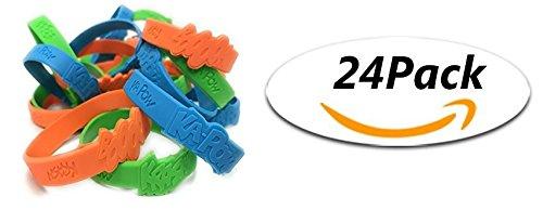 Oojami Pack Of 24 Superhero Sayings Bracelets 2 DZ ()