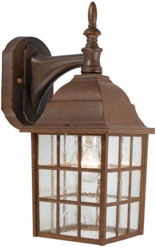 Hardware House 544114 Downward-Facing 14-by-6-Inch Aluminum Outdoor Light Fixture, Artesian Bronze
