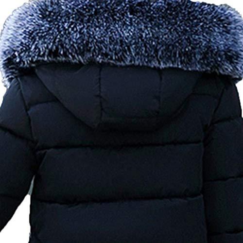 Mantello Mantello Mantello Cerniera Manica Manica Manica Corto Moda Donna con Cappuccio Laterali Casual Tasche Colori Solidi Vintage Lunga Invernali Schwarz Piumini Cappotto con Outerwear OXT6wqITnA