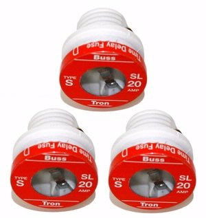 Bussman BP/SL-20 20 Amp Tamper Proof Plug Fuses 3 Count - Tamper Proof Fuses