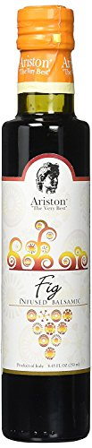 Ariston Fig Infused Balsamic (Sweet) 8.45oz Organic Product of Modena, (Sangiovese Sweet Wine)
