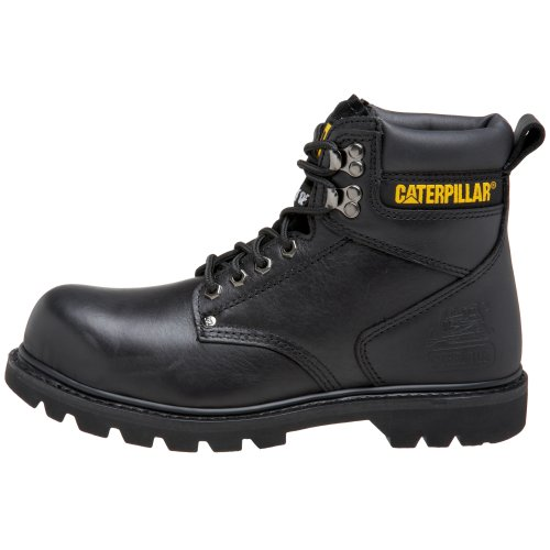 "Caterpillar Men's 2nd Shift 6"" Steel Toe Boot,Black,11 M US"