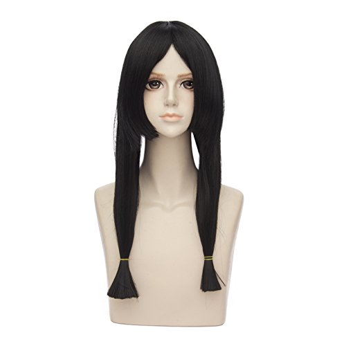 Cosplay Costume Sites (Mufly Japanese Anime Cosplay Wigs Long Straight Black Ponytails Halloween Costume Party Daily Hair )