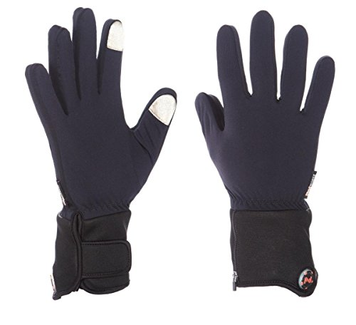 Mobile Warming Unisex-Adult Heated 7.4v Gloves Liner (Black, - Liners Battery Glove Heated
